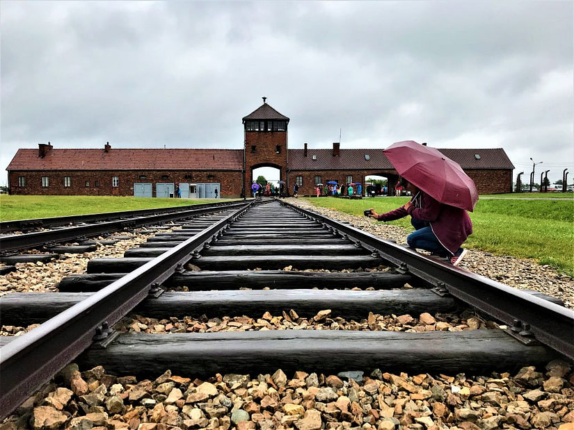The sadness we had when visiting Auschwitz-Birkenau near Krakow in Poland. The worst death camp in Europe with the most amount of deaths