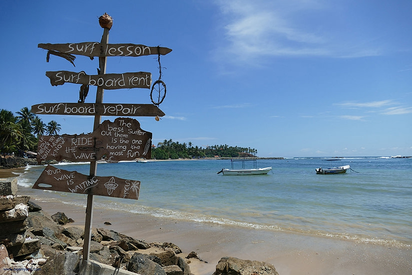 Just one of the best beaches in Sri Lanka being Mirissa