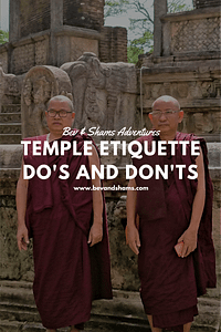Temple Do's and Don'ts