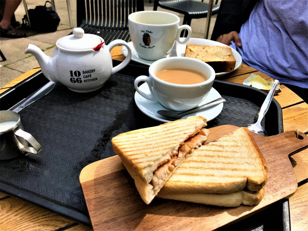 Places to eat in Hastings, tea and sandwich at 1066 cafe in Hastings