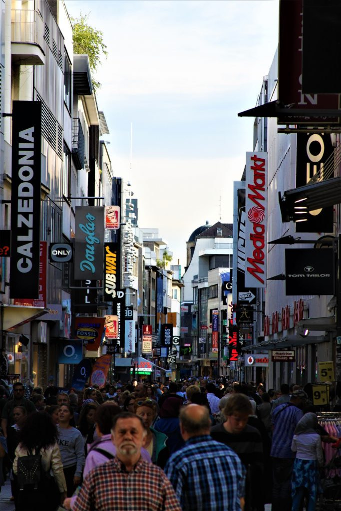 Busy street in these things to do in Cologne Germany