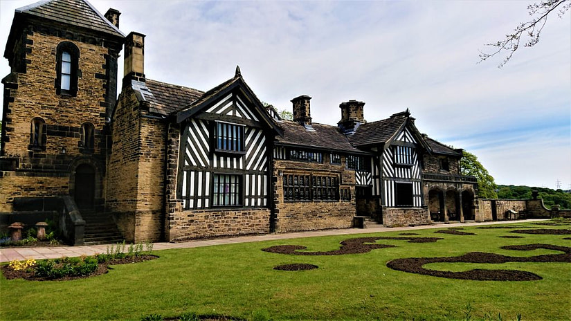 Shibden Hall in all its glory. This was the residence of Anne Lister.