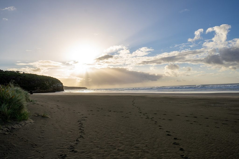 Waipati Beach and Cathedral Caves in New Zealand's South Island