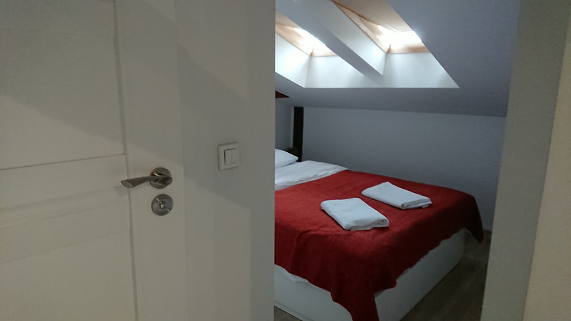 The whole apartment to ourselves, via Airbnb in Krakow