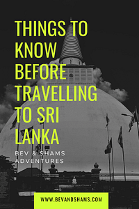 Things to know before travelling to Sri Lanka