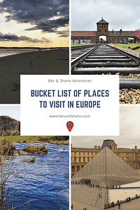 Bucket List of places to visit in Europe