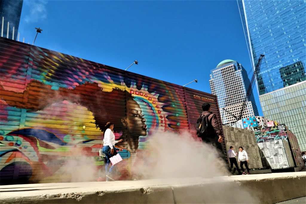 Street art is one of the free things to do in New York City