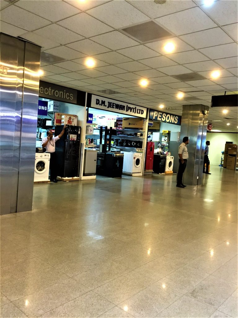 electrical items in duty free in Colombo Airport Sri Lanka