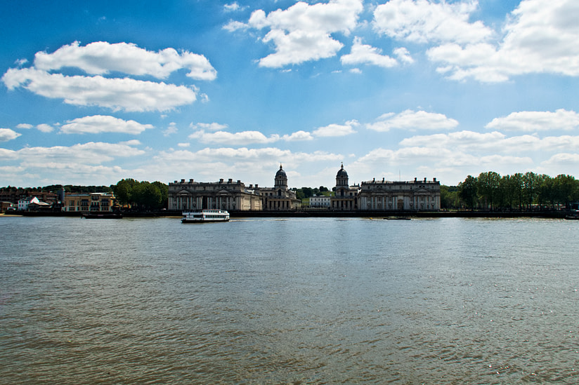 The view from Island Gardens to Greenwich