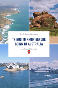 Things to know before going to Australia