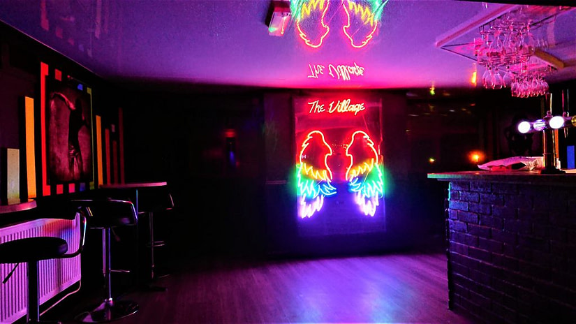 The interior of The Village in Halifax. This is the only LGBT bar in Halifax